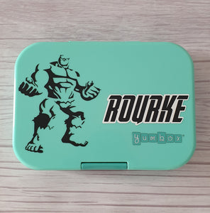 Hulk Avengers Outline & Double Layer Name Personalised Label Sticker - Marvel Decal