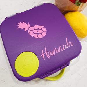 Pineapple Spring Lunchbox Name Decal - {Wilma Font} - Vinyl Label Sticker