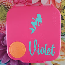 Mermaid Silhouette & Name Lunchbox Decal Sticker {Daisy Font}- Dance Ballet