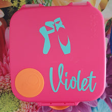 Ballet shoes & Name {Daisy font} Lunchbox Decal Sticker