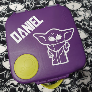 "The Child Mandalorian Force Name Label - Large (4.8""x4) Baby Yoda Lunchbox Decal Sticker"