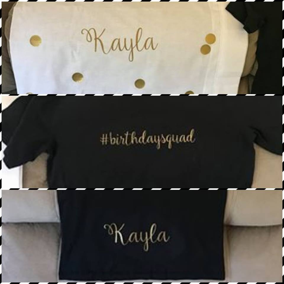 Iron-On Name Decal - Fully Customisable - Personalised Heat Transfer S M or  L