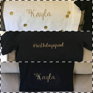 "Extra Large Iron-On Name Decal - Fully Customisable - Personalised Heat Transfer - Suit Adult Shirt (9"")"