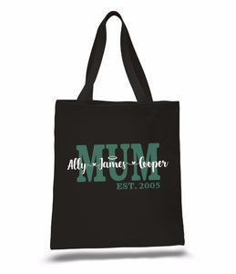 Mother's Day Personalised Gift Tote Bag - Nanna Grandma Mum