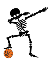 Basketball Dabbing Skeleton - DIY Iron-On Decal - Heat Transfer Vinyl (HTV)