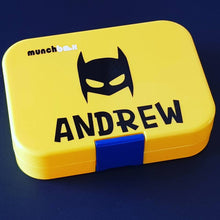 Batman Mask & Name Personalised Lunchbox Label - Custom Sticker Laptop Drink Bottle