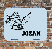 D20 Dungeons & Dragons Lunchbox Sticker - Dragon Master Personalised Gamer Varsity Label