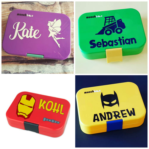 Name icon designer fits munchbox yumbox personalised label mix match