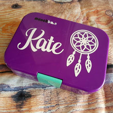 Dreamcatcher & Name Personalised Lunchbox Decal - Bento Sticker {Antero Font}
