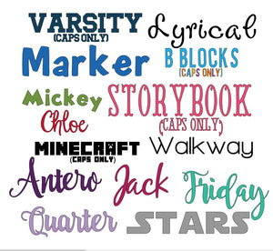 "Large 6"" / 15cm Single Name Personalised Decal - Customised Label - Back to School"