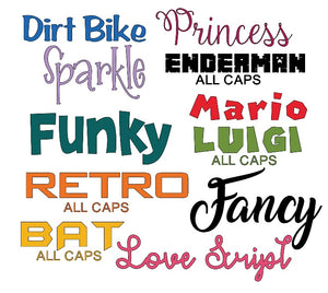 "4"" Midi Single Name Personalised Decal - Midi 4"" / 10cm Customised Label"