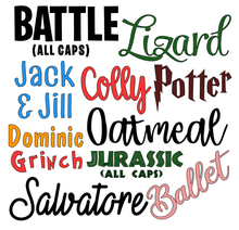 "Small Christmas DIY Bauble Labels - 3"" / 8cm Single Name Personalised Decal - Customised Label"