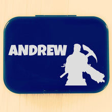 Fortnite Pickaxe Soldier & Name Personalised Label - Lunchbox/Laptop {Lucky Font}