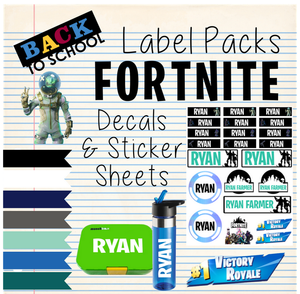 Fortnite - Back to School Sticker & Decal Pack