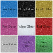 Glitter Iron-On Name Decal - Fully Customisable - Personalised Glitter Heat Transfer S M or L