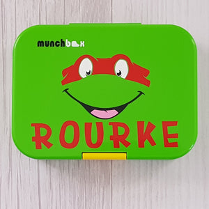 Ninja Turtle & Name Lunchbox Decal Sticker