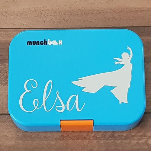 Striking Elsa Silhouette & Name Princess Personalised Label Sticker - Frozen Decal
