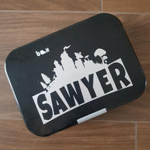 Fortnite Logo Name Personalised Lunchbox / Laptop Decal Sticker