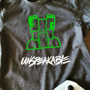 Unspeakable You Tube Iron on Design  - DIY Iron-On Decal - Gamer Heat Transfer Vinyl (HTV)