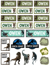 Jurassic World - Back to School Dinosaur Sticker & Decal Pack