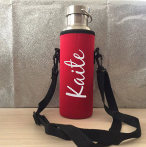 Neoprene Personalised Drink Bottle Cover - Back to School Teacher Gifts
