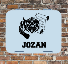 D20 Dungeons & Dragons Lunchbox Sticker - Druid Personalised Gamer Varsity Label