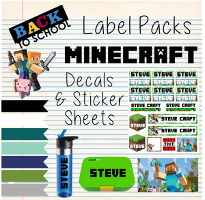 Minecraft  - Back to School Sticker & Decal Pack