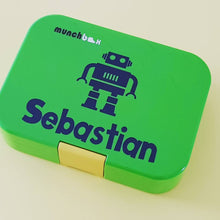 Robot & Name Personalised Decal - lunchbox / Laptop Name Decal