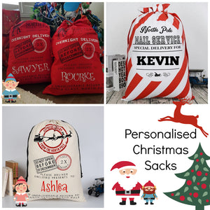 Personalised Canvas Christmas Santa Sack / Bag
