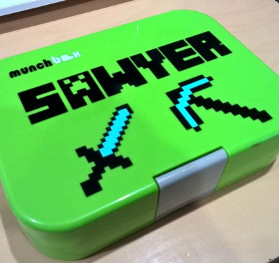 Minecraft Icons & Name Lunchbox Laptop Decal Sticker