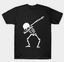 Dabbing Skeleton Kids Shirt - Size 1 - 16 Organic Black Cotton
