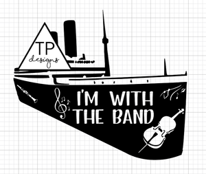 I'm With The Band - Essential Worker Quarantine Design - Covid-19 DIY Iron On Decal