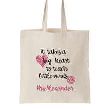 Teacher Appreciation Gift - Shopping Tote Bags - Calico Canvas Bag