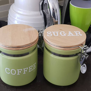 "3"" / 8cm Pantry or Coffee Tea & Sugar Labels ~ Country Capitals Font"