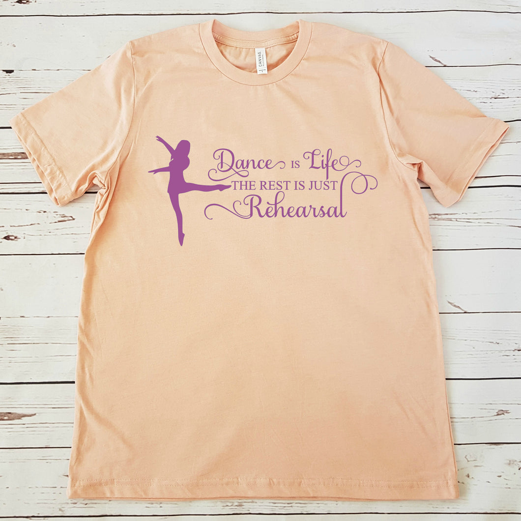 Dance is Life  - DIY Iron-On Decal - Heat Transfer Vinyl (HTV)