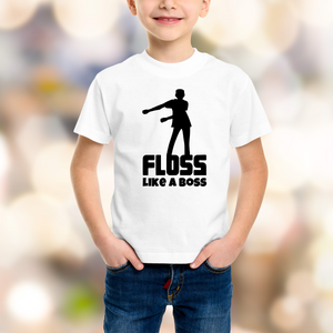 Floss Like a Boss - Flossing Kid  - DIY Iron-On Decal - Heat Transfer Vinyl (HTV)