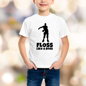 Fortnite Floss Like a Boss - Flossing  - DIY Iron-On Decal - Heat Transfer Vinyl (HTV)