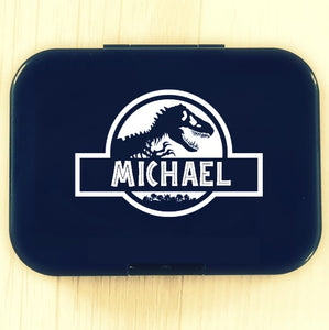Jurassic World Logo Personalised Name Label - Dinosaur Park Cusom Lunchbox Decal Sticker