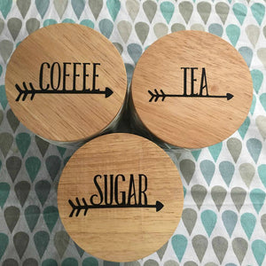 "3"" / 8cm Pantry or Tea & Coffee Labels ~ Arrow Font"