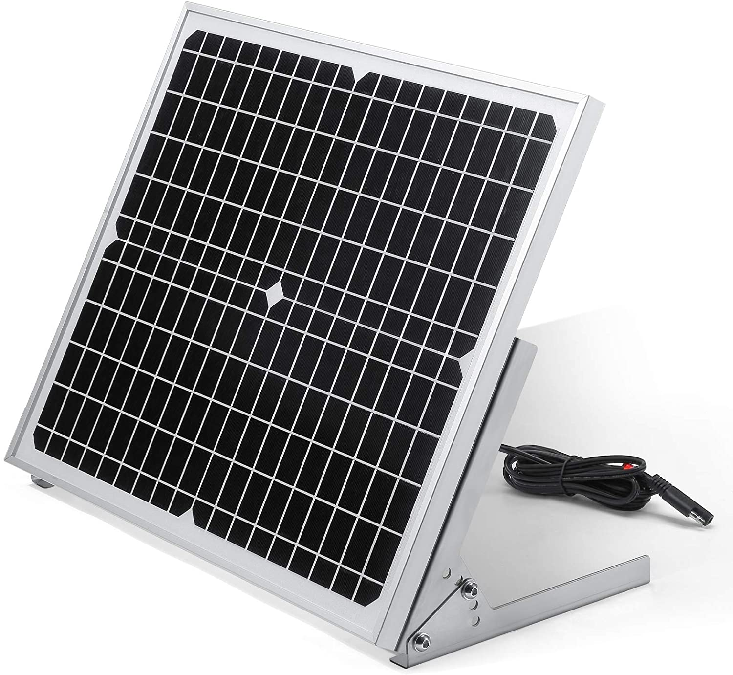 12v 20w Solar Panel Battery Charger Kit for Gate Opener, with Built-in MPPT Control Module