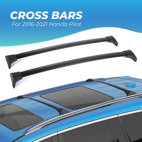 Car Roof Rack Cross Bars for 2016-2021 Honda Pilot with Side Rails, Aluminum Cross Bar Replacement