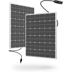 BougeRV 18V 200W Monocrystalline Solar Panel 2-Pack