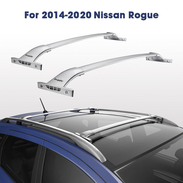 2014-2020 Nissan Rogue with Side Rails Aluminum Roof Rack Cross Bars