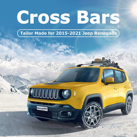 Car Roof Rack Cross Bars for 2015-2021 Jeep Renegade with Side Rails, Aluminum Cross Bar Replacement