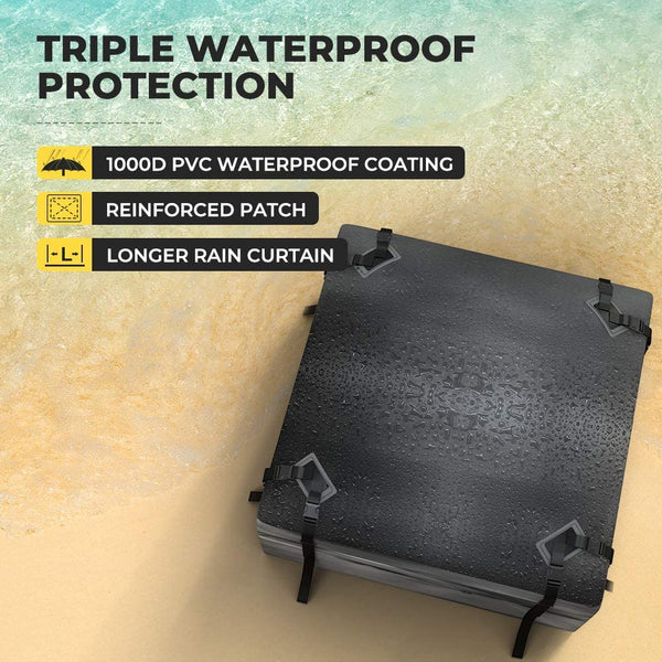 Rooftop Carrier Bag Waterproof with Protective Mat 15 Cubic