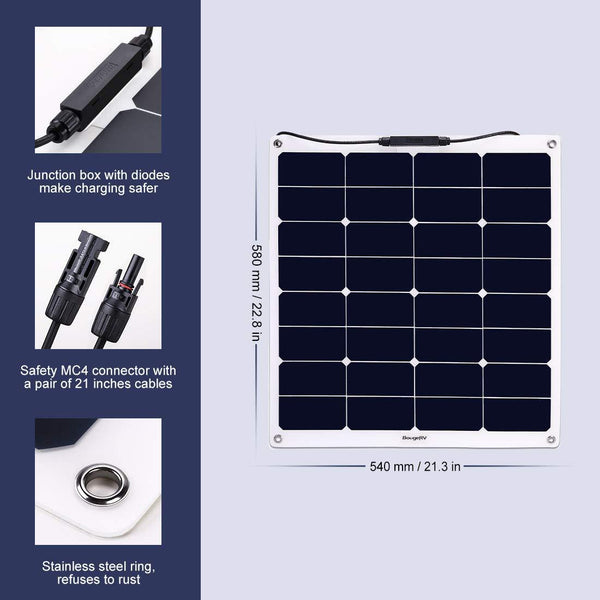 50W Flexible Solar Panel - BougeRV