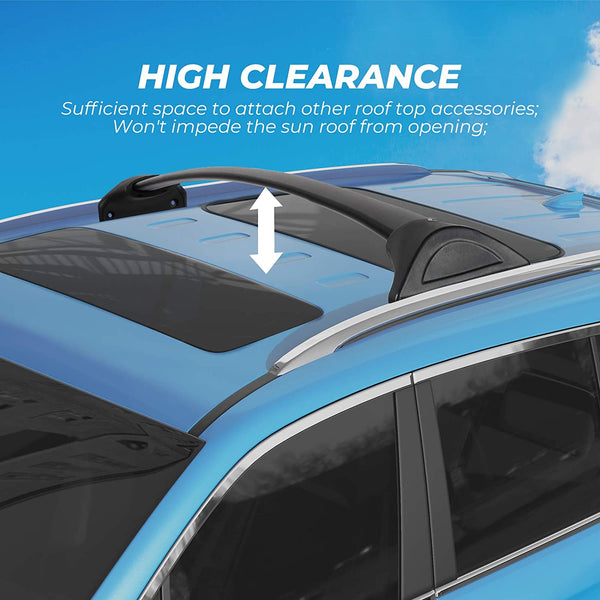 Car Roof Rack Cross Bars for 2016-2021 Honda Pilot with Side Rails, Aluminum Cross Bar Replacement - BougeRV