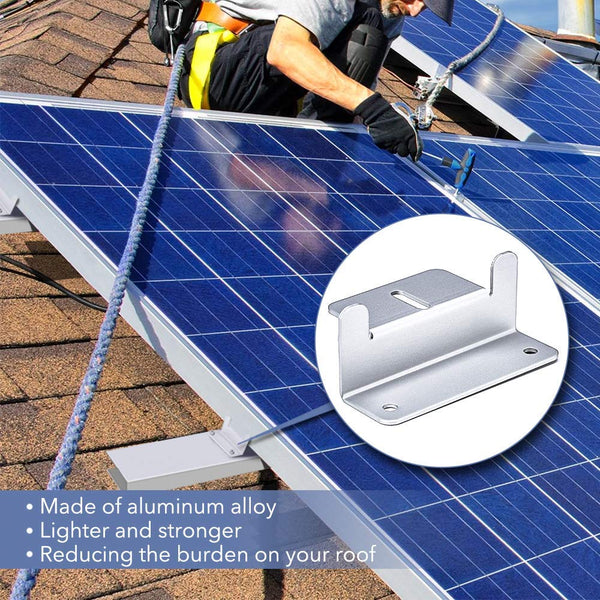 Solar Panel Mounting Z Bracket Mount Kits Supporting for RV, Roof, Boat, Off Grid - BougeRV