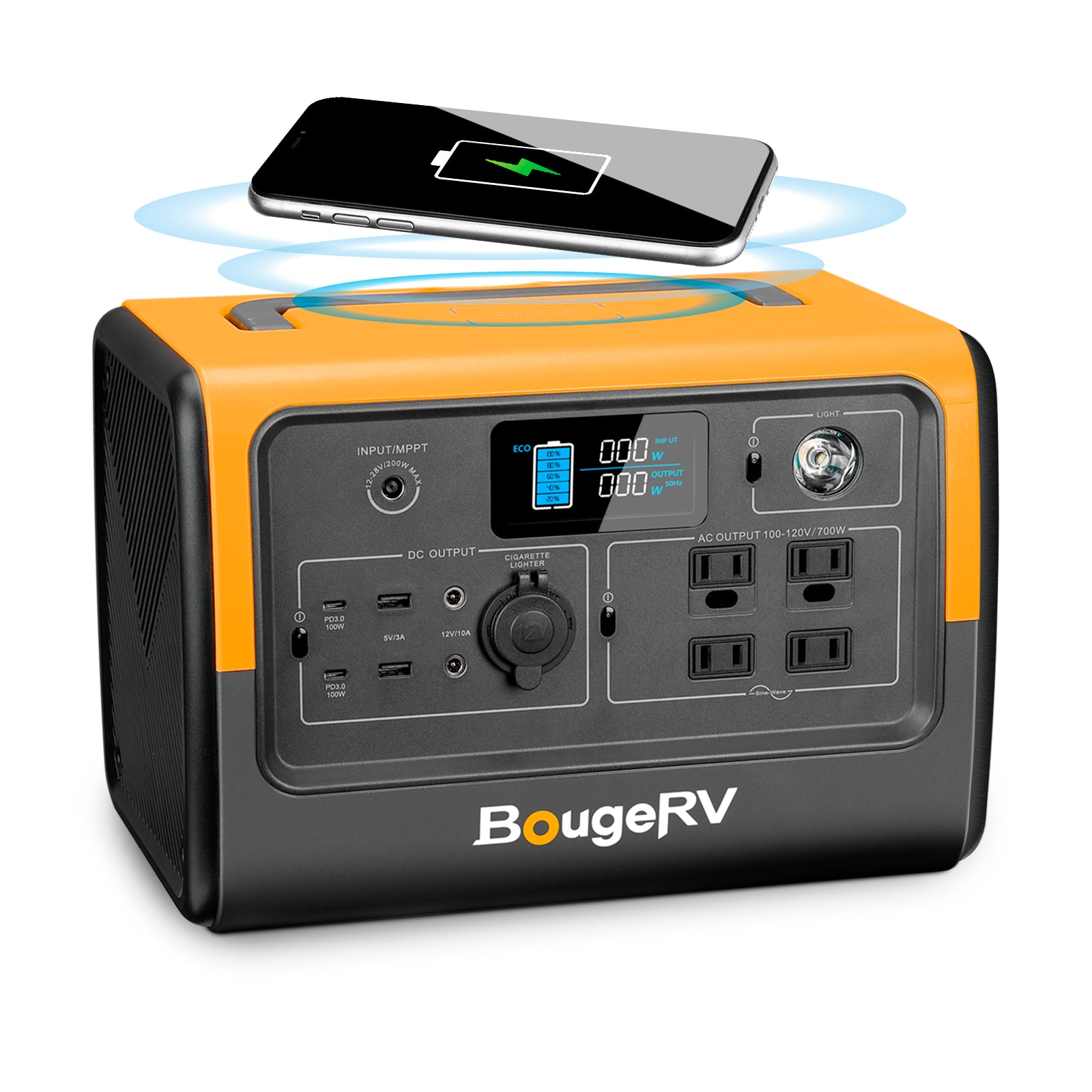 BougeRV 716Wh Portable Power Station