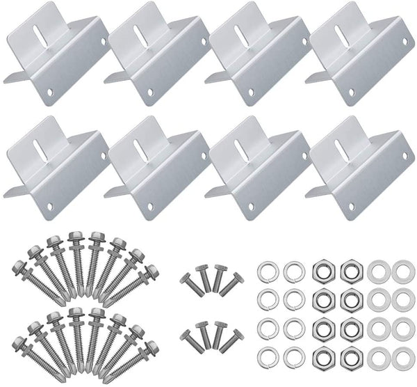 Solar Panel Mounting Z Bracket Mount Kits Supporting